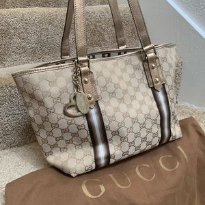 Gucci tote bag Gold / Brown